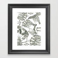 Aphrodisy Monochrome Framed Art Print