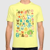 ABC Mens Fitted Tee Lemon SMALL