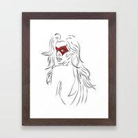 Masked Woman Framed Art Print