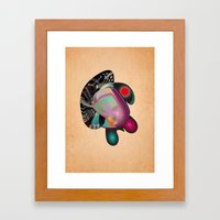 Dissection (of a thought) Framed Art Print