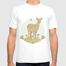 Little Deer Mens Fitted Tee SMALL White