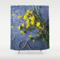 Buttercup Bouquet - Yellow  Shower Curtain