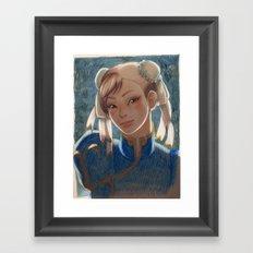 Chun-Li Portrait Framed Art Print
