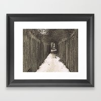 Lone Winter Walk Framed Art Print