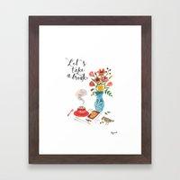 Let's Take A Break Framed Art Print