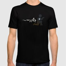 Doing the Moonwalk Backwards But Running. Mens Fitted Tee Black SMALL