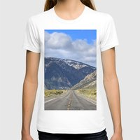 Hills Ahead Womens Fitted Tee White SMALL