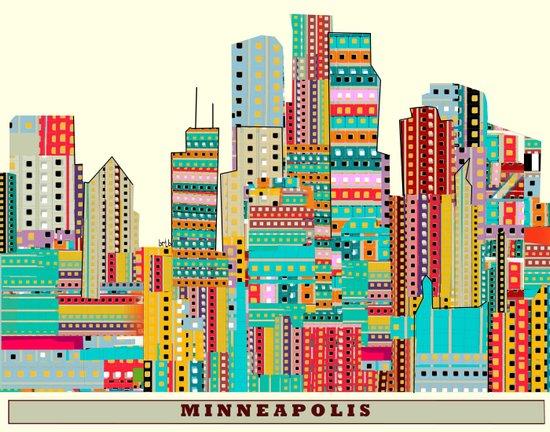 Minneapolis city  Canvas Print