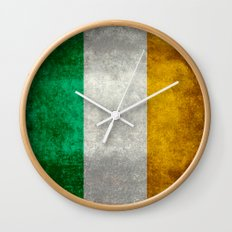 National flag of the Republic of Ireland - Vintage Version Wall Clock