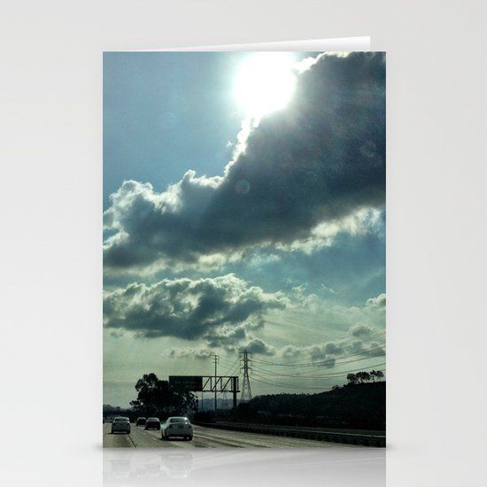 Admiring the clouds. Stationery Card