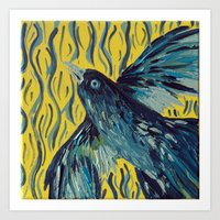 Blue Bird of Happiness Art Print