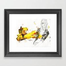 Honey dip lavender bumble bee jacket Framed Art Print