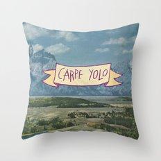 CARPE YOLO Throw Pillow