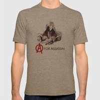 A for Assassin Mens Fitted Tee Tri-Coffee SMALL