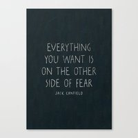 I. The other side of fear. Canvas Print
