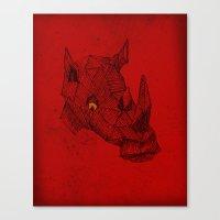 Red Rhino Canvas Print