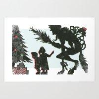 Be Good Krampus Art Print