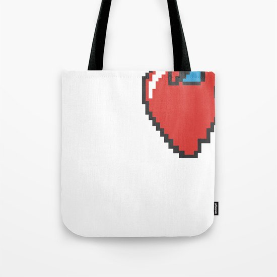 i heart 8-bit Tote Bag