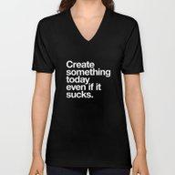 Create Something Today E… Unisex V-Neck