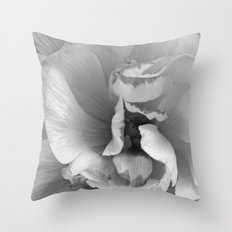 petals in black and white Throw Pillow