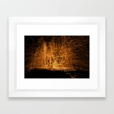 Home made fireworks Framed Art Print