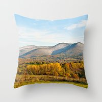 Wintery Autumn Throw Pillow
