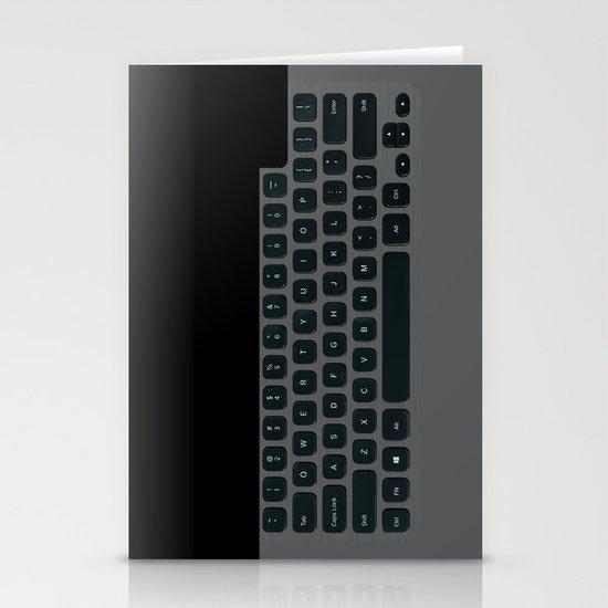 Brushed Metal Keyboard Stationery Card