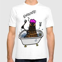 EXFOLIATE! Mens Fitted Tee White SMALL