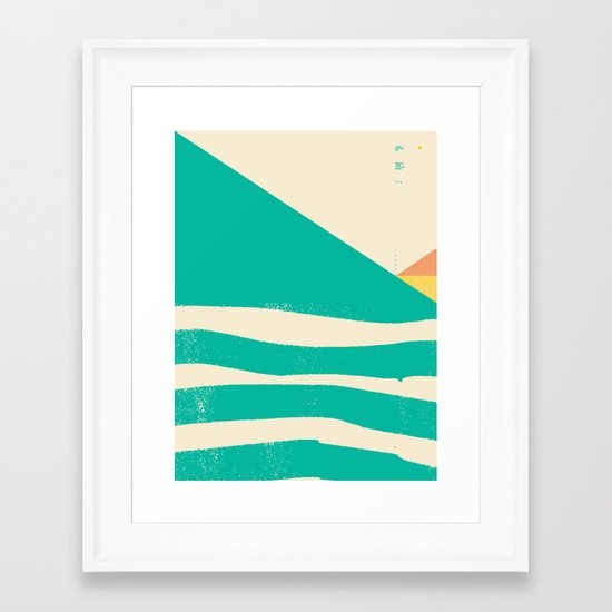 Secret Surf Map 002 — Matthew Korbel-Bowers Framed Art Print