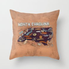 NORTH CAROLINA Throw Pillow