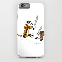 iPhone & iPod Case featuring Bonifacio and Hobbes by Cesar Cueva