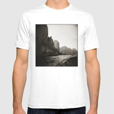 { Adventures } SMALL Mens Fitted Tee White