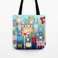 Bunch of Cats Tote Bag