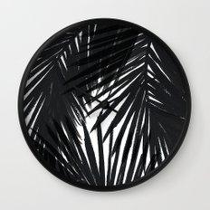 Palms Black Wall Clock