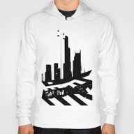 City Scape In Black And … Hoody