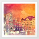 street in Poznan part 2 Art Print