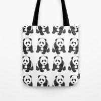 Panda Mania Repeat Tote Bag