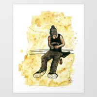 Chocolate Skater Art Print