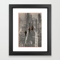 RUN THE TOWN Framed Art Print