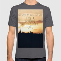 It's A Wonderful Life Mens Fitted Tee Asphalt SMALL