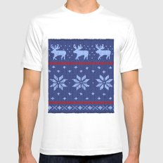 Winter Lovers Christmas SMALL White Mens Fitted Tee