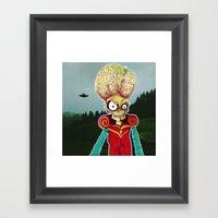 MARS ATTACKS LEADER Framed Art Print