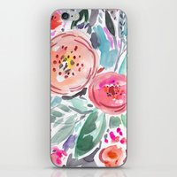 Coral Floral iPhone & iPod Skin