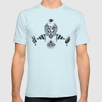 Sacred Heart Mens Fitted Tee Light Blue SMALL