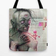 Self Analysis Defrag Tote Bag
