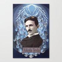 Nikola Tesla Poster - Pa… Canvas Print