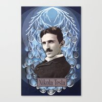 Nikola Tesla poster - Paper art print Canvas Print