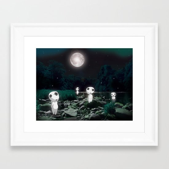 Forest Spirits (Kodama)   Framed Art Print