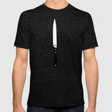 THE KNIFE Mens Fitted Tee Tri-Black SMALL