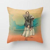 Samurai Throw Pillow